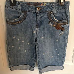 Mudd long jean shorts